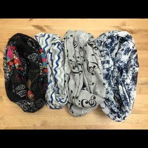 Fluffy infinity scarves bundle